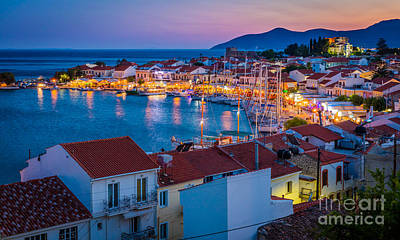 Greek Photograph - Pythagoreio Evening by Inge Johnsson