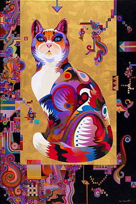 Imaginative Art Painting - Pythagorus' Cat by Bob Coonts