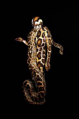 Python Painting - Python by Johannes Stoetter