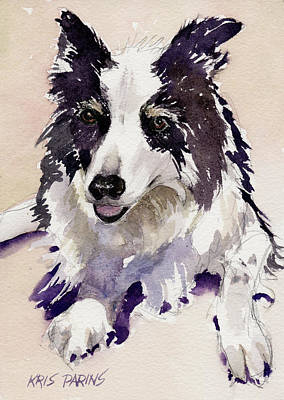 Herding Dog Painting - Jack by Kris Parins