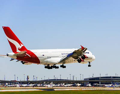 Photograph - Qantas A380 030519 by Rospotte Photography