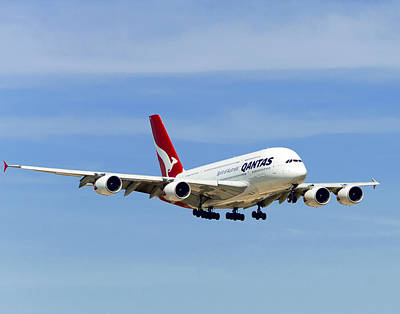 Photograph - Qantas A380 Airbus V3 by Rospotte Photography
