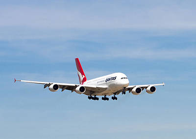 Photograph - Qantas A380 Airbus V7 by Rospotte Photography