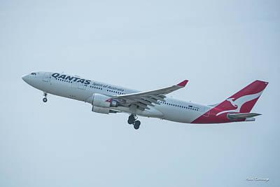 Photograph - Qantas Airways Airbus A330-203 Spirit Of Australia Airplane Vh-ebg Art by Reid Callaway