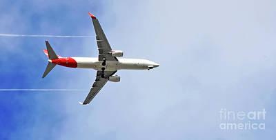 Photograph - Qantas In Flight by Kaye Menner