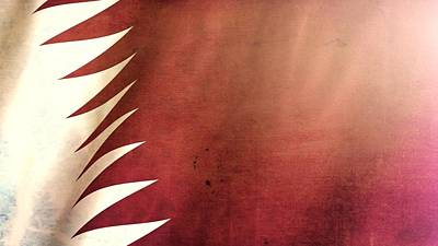 Arabian Mixed Media - Qatar Grunge Flag by Dan Sproul