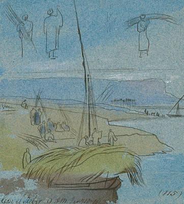 Drawing - Qaw El Kebir by Edward Lear
