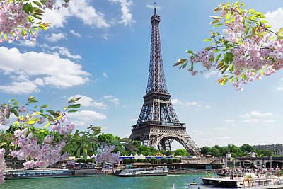 Photograph - Spring Over Seine River by Anastasy Yarmolovich