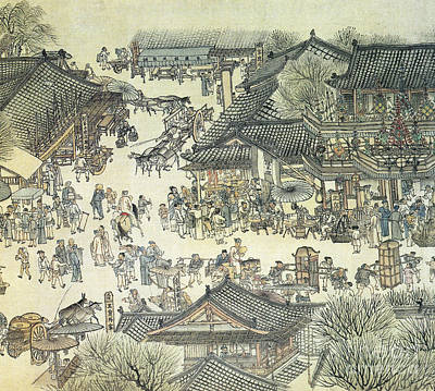 Painting - Qingming Festival, C1100.  by Granger