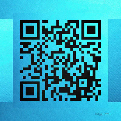 Digital Art - Qr Codes - Code Blue by Serge Averbukh