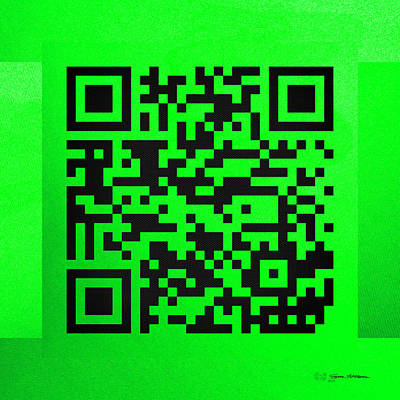 Digital Art - Qr Codes - Code Green by Serge Averbukh
