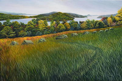 Wall Art - Painting - Quabbin Reservoir by Melinda Zielfelder