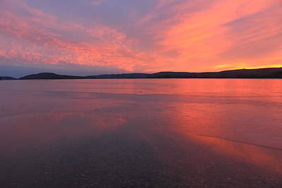 Photograph - Quabbin Reservoir Sunset At Road's End by John Burk