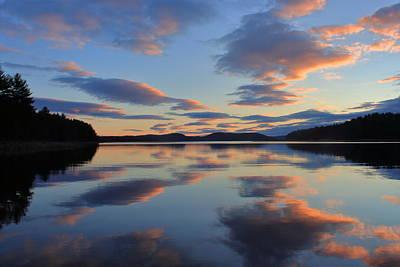 Photograph - Quabbin Reservoir Sunset by John Burk