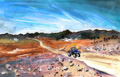 Painting - Quad Biking In Cabo De Gata by Miki De Goodaboom