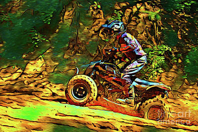 Photograph - Quad Motocross 17218 by Ray Shrewsberry
