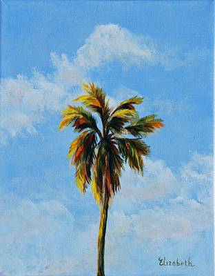 Quad Palms 3 Of 4 Art Print by Beth Maddox