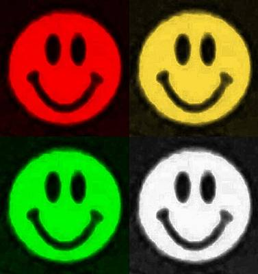 Photograph -  Quad  Smiley Colors by Rob Hans