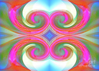 Digital Art - Quad Spirals by Expressionistart studio Priscilla Batzell