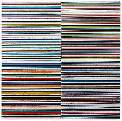 Painting - Quad Stripes by Stan  Magnan