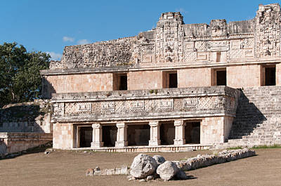 Digital Art - Quadrangle Of The Nums At Uxmal by Carol Ailles