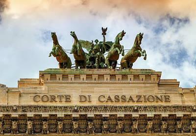 Photograph - Quadriga Upon Corte Di Cassazione, The Supreme Court Of Cassation, Rome, Italy by Elenarts - Elena Duvernay photo