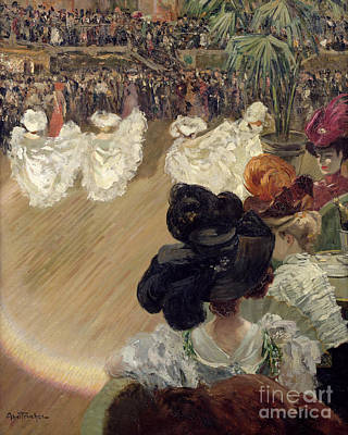 Quadrille At The Bal Tabarin Art Print by Abel-Truchet