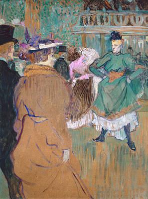 Club Scene Painting - Quadrille At The Moulin Rouge by Henri de Toulouse-Lautrec