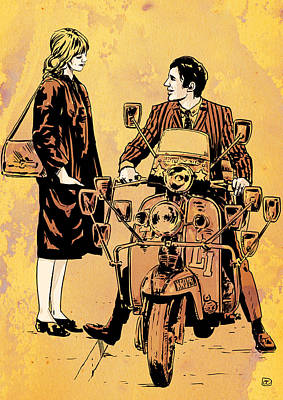 Townshend Drawing - Quadrophenia by Giuseppe Cristiano