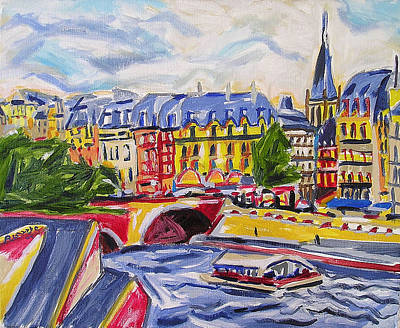 Painting - Quai Des Grands Augustins by Nancy Rourke