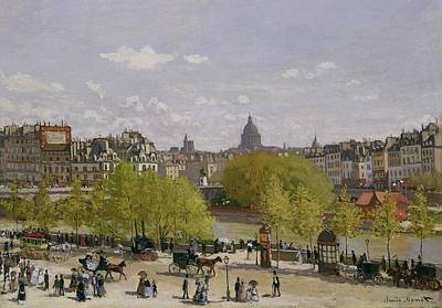 Crowd Scene Painting - Quai Du Louvre In Paris by Claude Monet