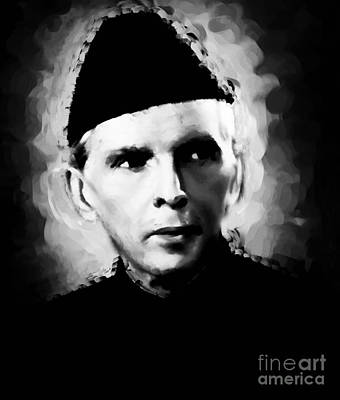 Muhammad Painting - Quaid E Azam Opt1 by Gull G