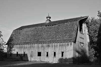 Photograph - Quail Avenue Barn Bw by Bonfire Photography