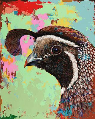 Profile Painting - Quail by David Palmer