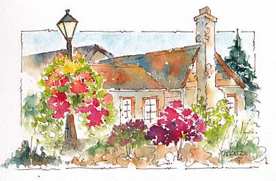 Winery Painting - Quails Gate Allison House by Pat Katz