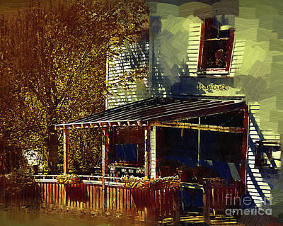 Digital Art - Quaint Cafe by Kirt Tisdale