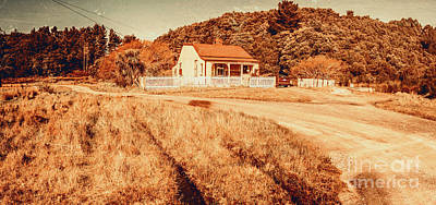 Antique Car Photograph - Quaint Country Cottage by Jorgo Photography - Wall Art Gallery