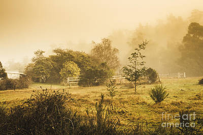 Farm Scenes Photograph - Quaint Countryside Scene Of Glen Huon by Jorgo Photography - Wall Art Gallery