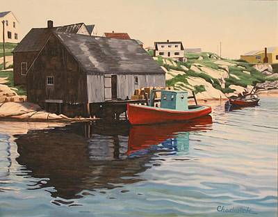 Painting - Quaint Cove by Phil Chadwick