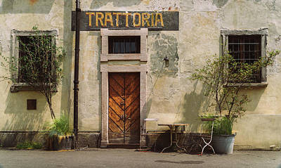 Photograph - Quaint Italian Trattoria by Alexandre Rotenberg