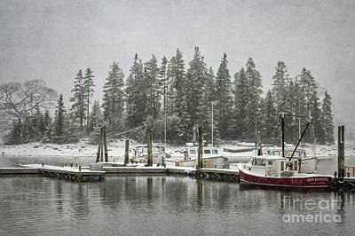 Photograph - Quaint Snowy Harbor by Karin Pinkham