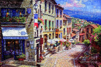 Digital Art - Quaint Streets From Nice France. by Rafael Salazar