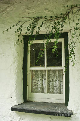 Quaint Window In Ireland Art Print