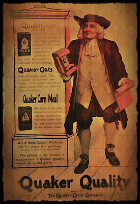Quaker Oats Photograph - Quaker Quality by Bill Cannon