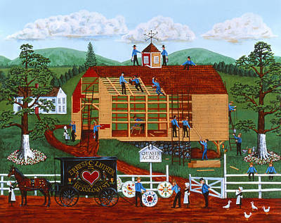 Americana Licensing Painting - Quakers Acres by Joseph Holodook