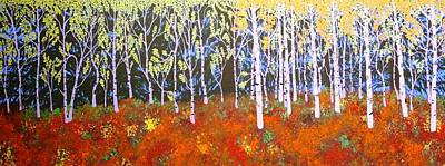 Painting - Quaking Aspens by Ralph Root