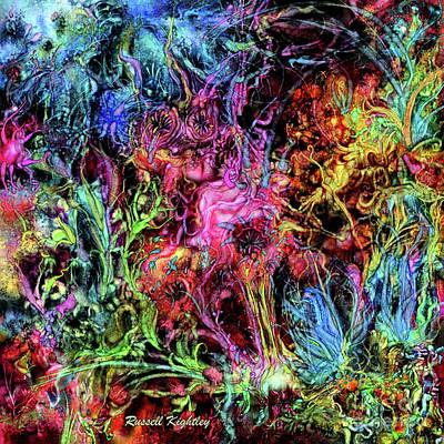 Digital Art - Qualia's Garden Spring by Russell Kightley