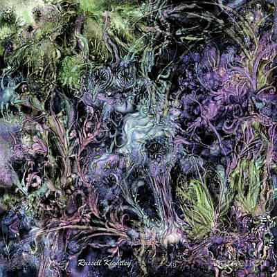 Digital Art - Qualia's Graden Winter by Russell Kightley