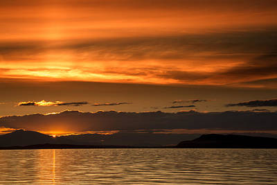 Photograph - Qualicum Beach Sunset by Randy Hall