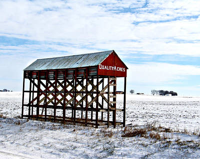 Photograph - Quality Acres With Snow by Kathy M Krause